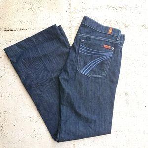 7 for all mankind DOJO Dark Jeans 31/32